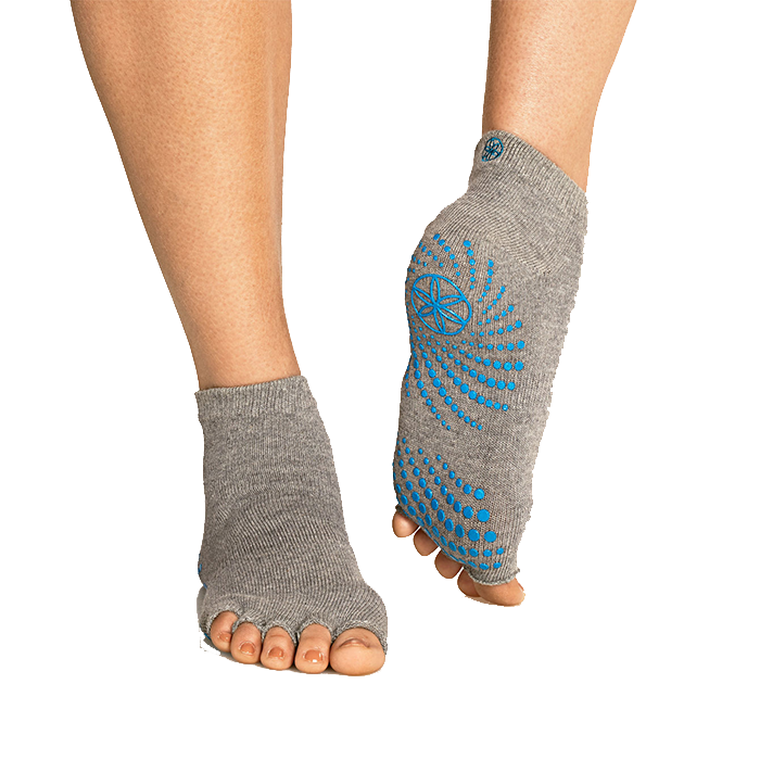 Heather Grey Toeless Grippy Socks