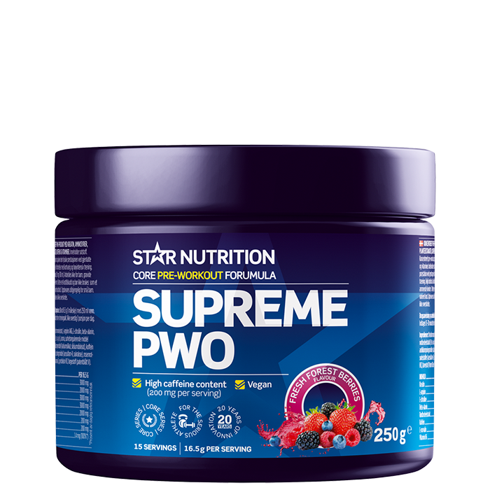Supreme PWO 250 g Tropical fruit punch