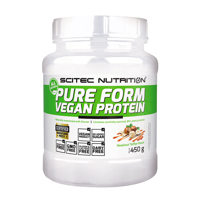 Pure Form Vegan Protein, 450 g Hazelnut