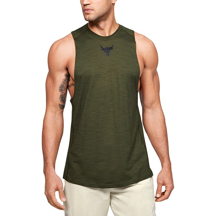 Project Rock Charged Cotton Tank, Guardian Green