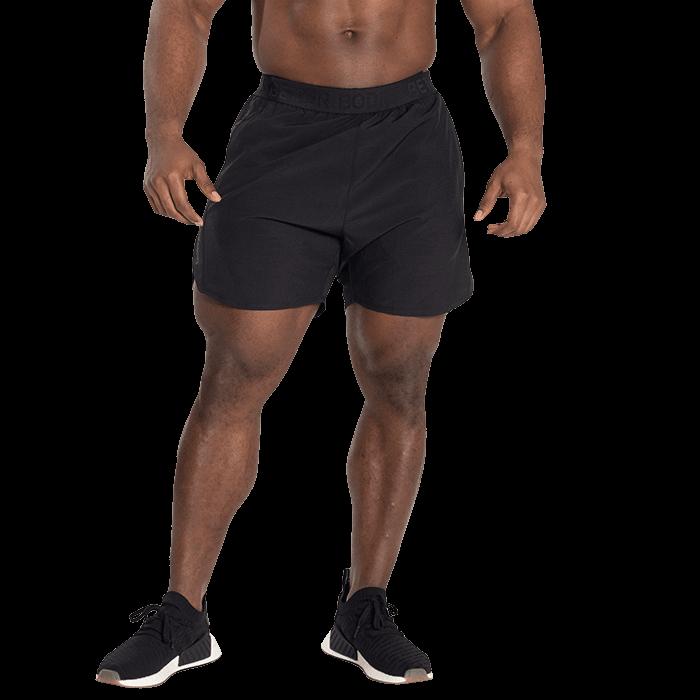 Essex Stripe Shorts, Black/Grey