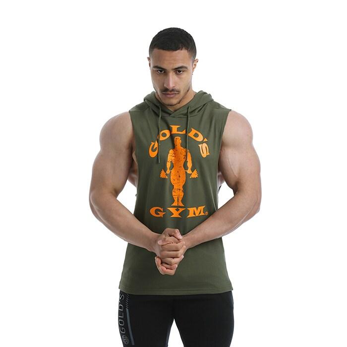 Golds Gym Drop Armhole Sweat, Army