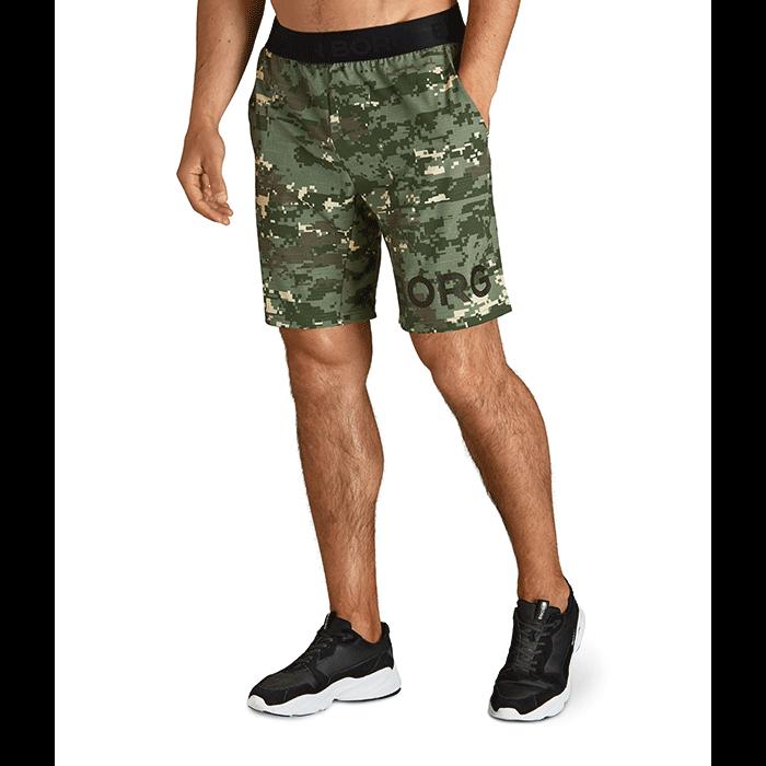 Borg Shorts, Digital Woodland XL Duck Green