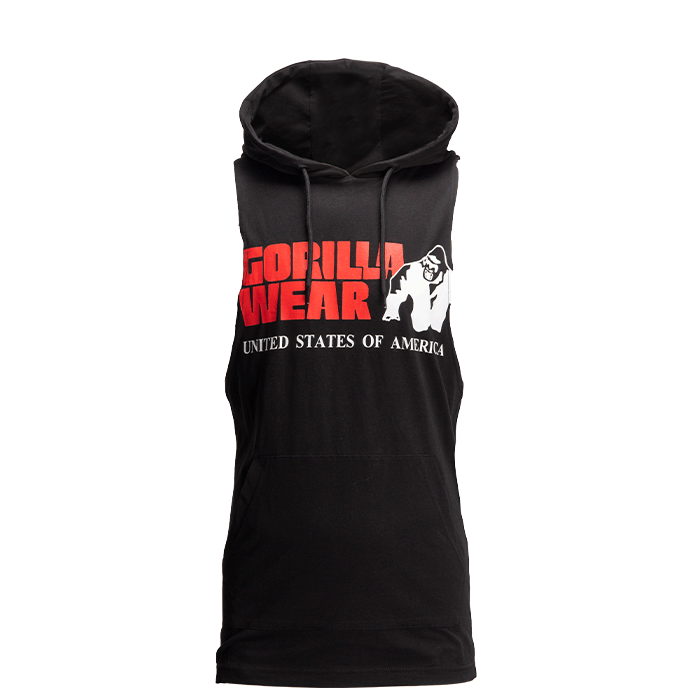 Rogers Hooded Tank Top, Black