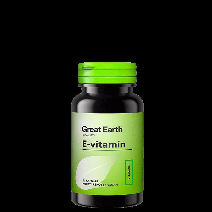 E-vitamin, 60 kapslar