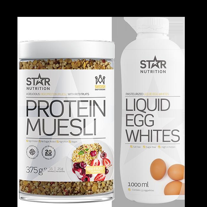 Flytande äggvita & Protein Muesli