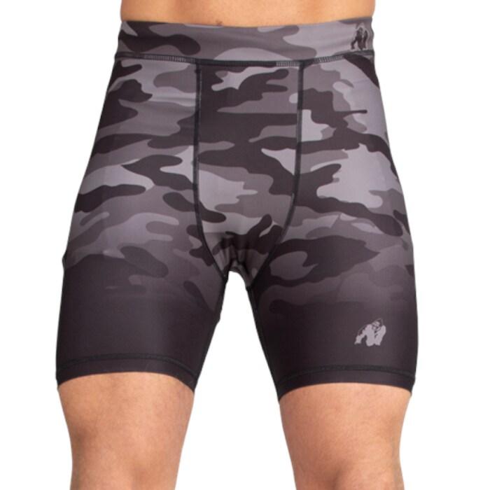 Franklin Shorts, Black/Gray Camo