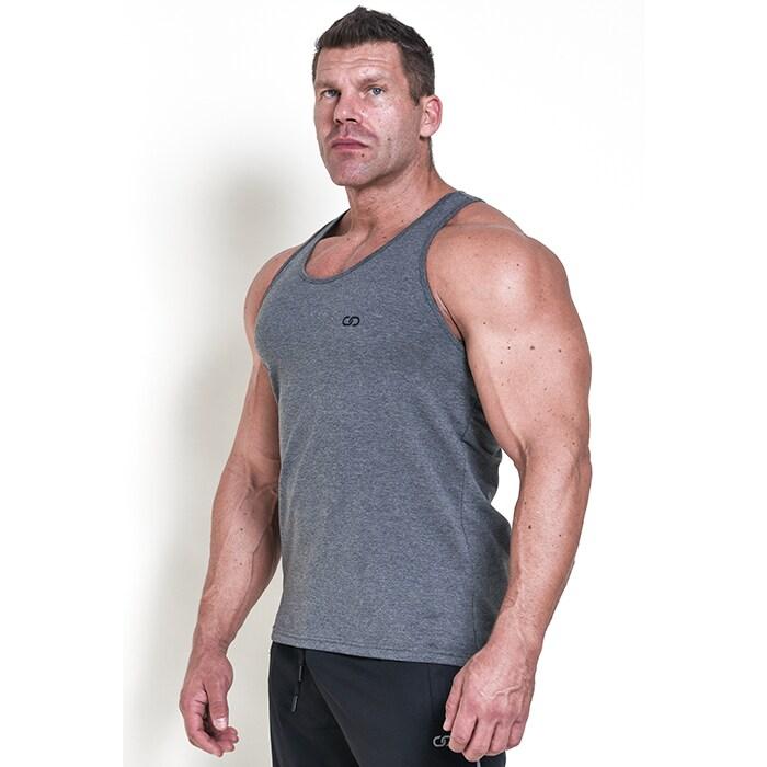 Chained Gym Stringer, Grey Melange