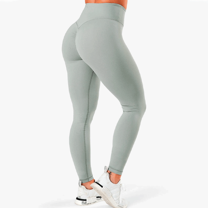 Scrunch V-Shape Tights, Silver Mist