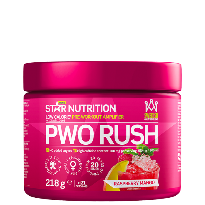 PWO Rush, 218 g 218g Lemon-Lime