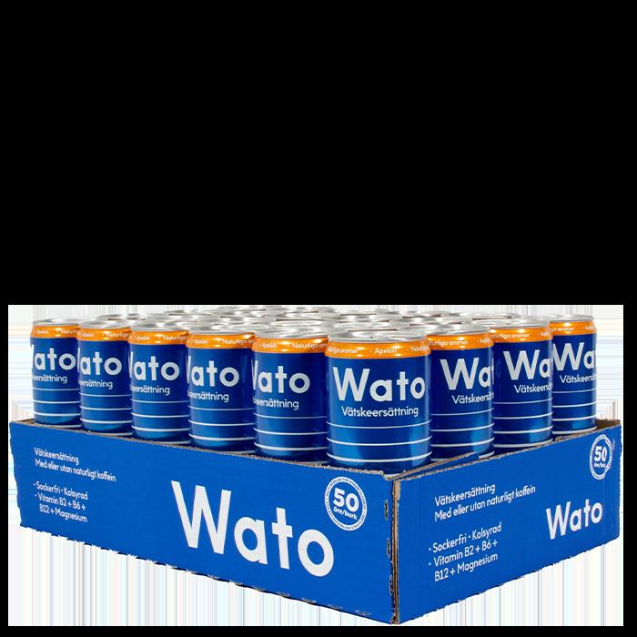 24 x Wato Vätskeersättning, 330 ml, Koffeinfri
