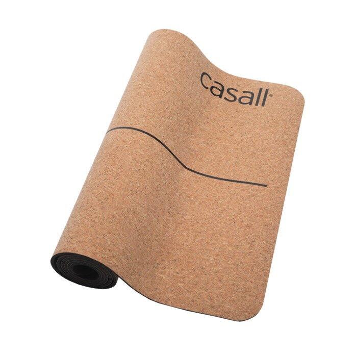 Yoga Mat Natural Cork 5mm, Natural Cork/Black