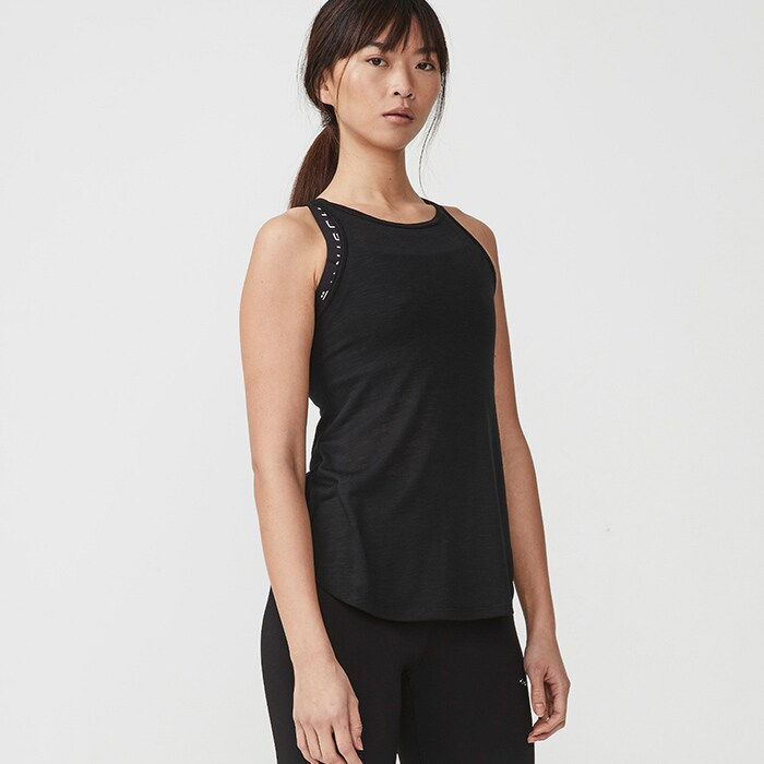 Sheer Tank Top, Black