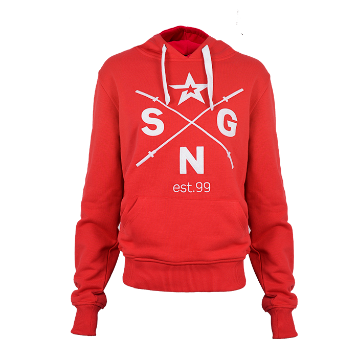 Star Nutrition Pullover Hood, Red