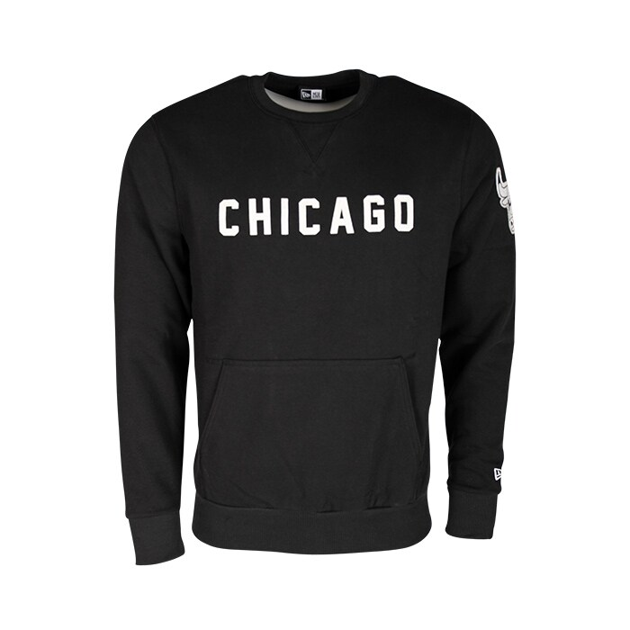NBA Wordmark Crew Chicago Bulls, Black