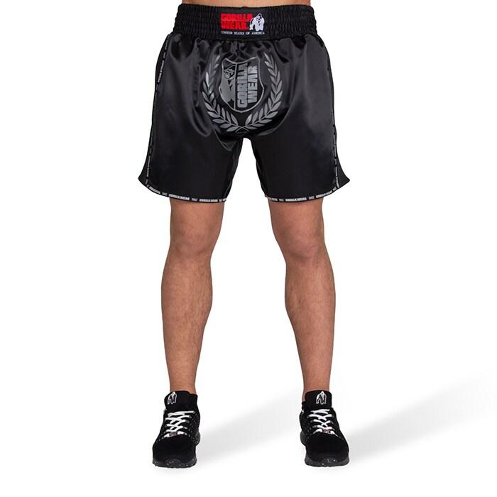 Murdo Muay Thai/Kickboxing Shorts. Black/Grey Camo