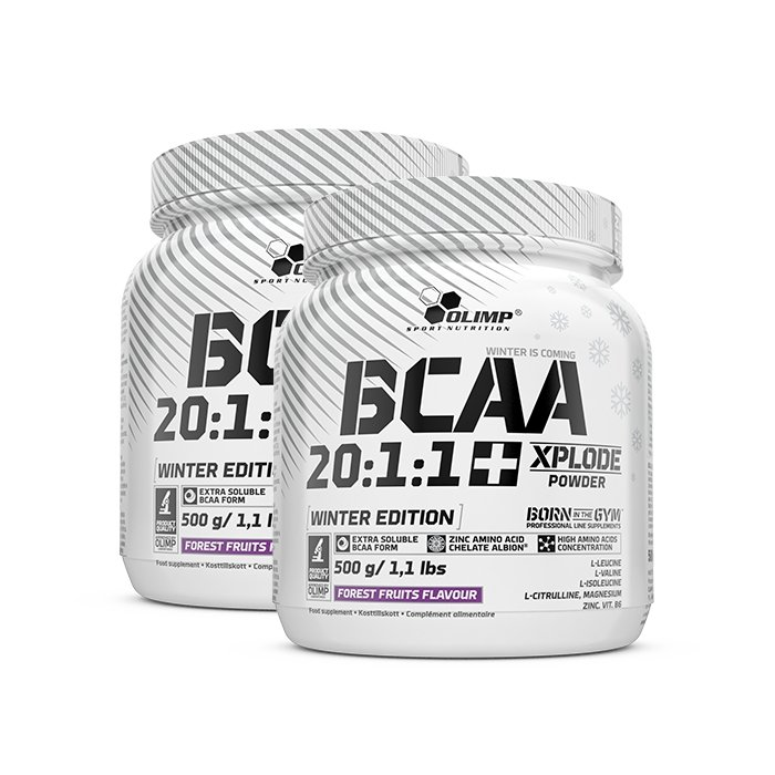 2 x BCAA Xplode 20:1:1, 500 g, Forrest Fruits Winter Edition