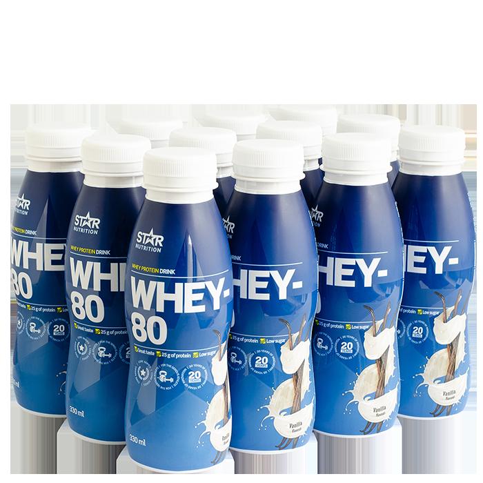12 x Whey-80, Drink, 330 ml, Vanilla