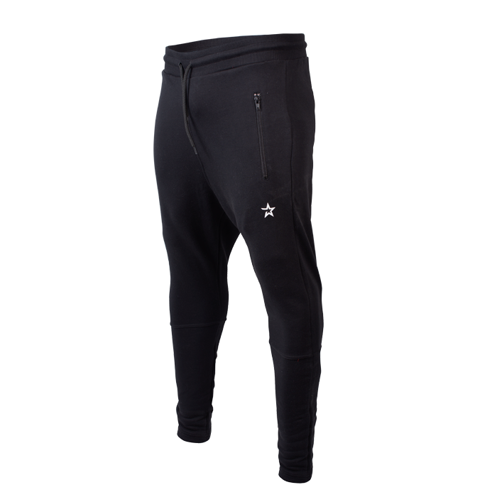 Star Tapered Fit Joggers, Black