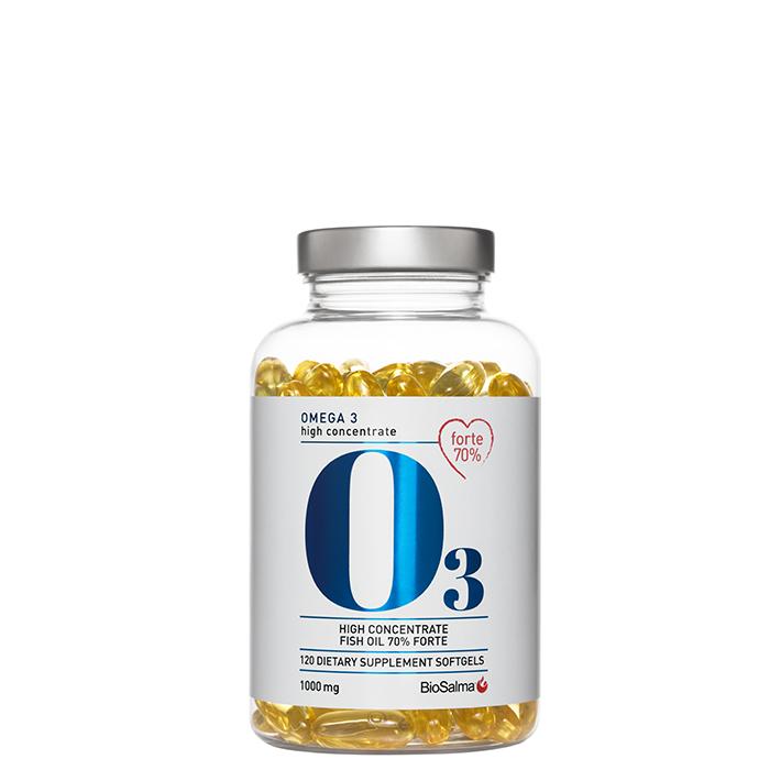 BioSalma Omega3 Forte 70% 1000 mg, 120 kapslar