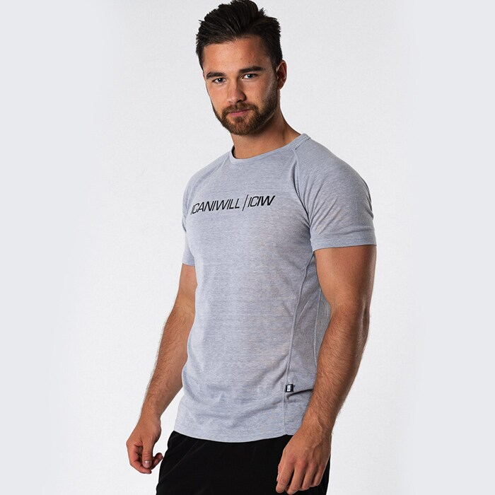 ICIW Sweat Print Tri-Blend T-shirt, Heather Grey Men
