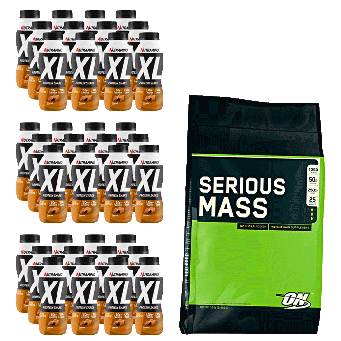 Nutramino Protein XL Shake + Optimum Serious Mass 5455 g for free