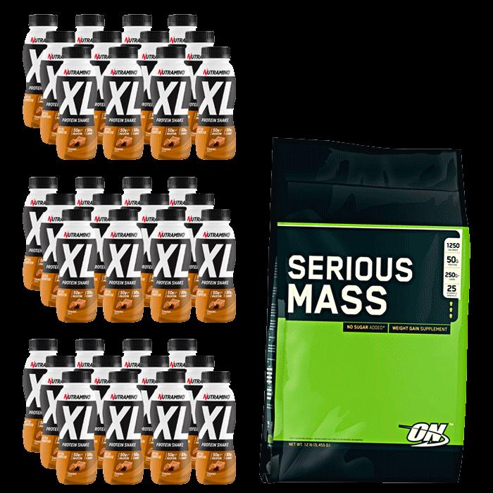 Nutramino Protein XL Shake + Optimum Serious Mass 5455 g for free