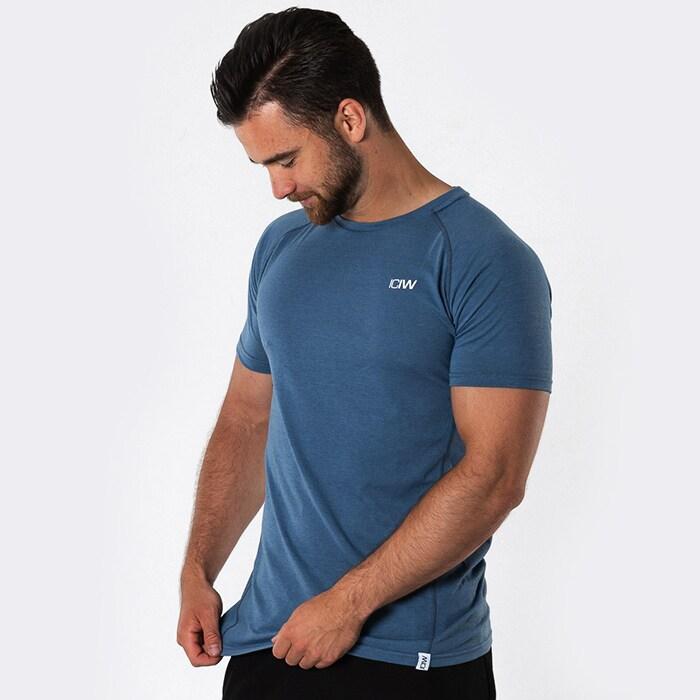 ICIW Tri-Blend T-shirt Man, Steel Blue