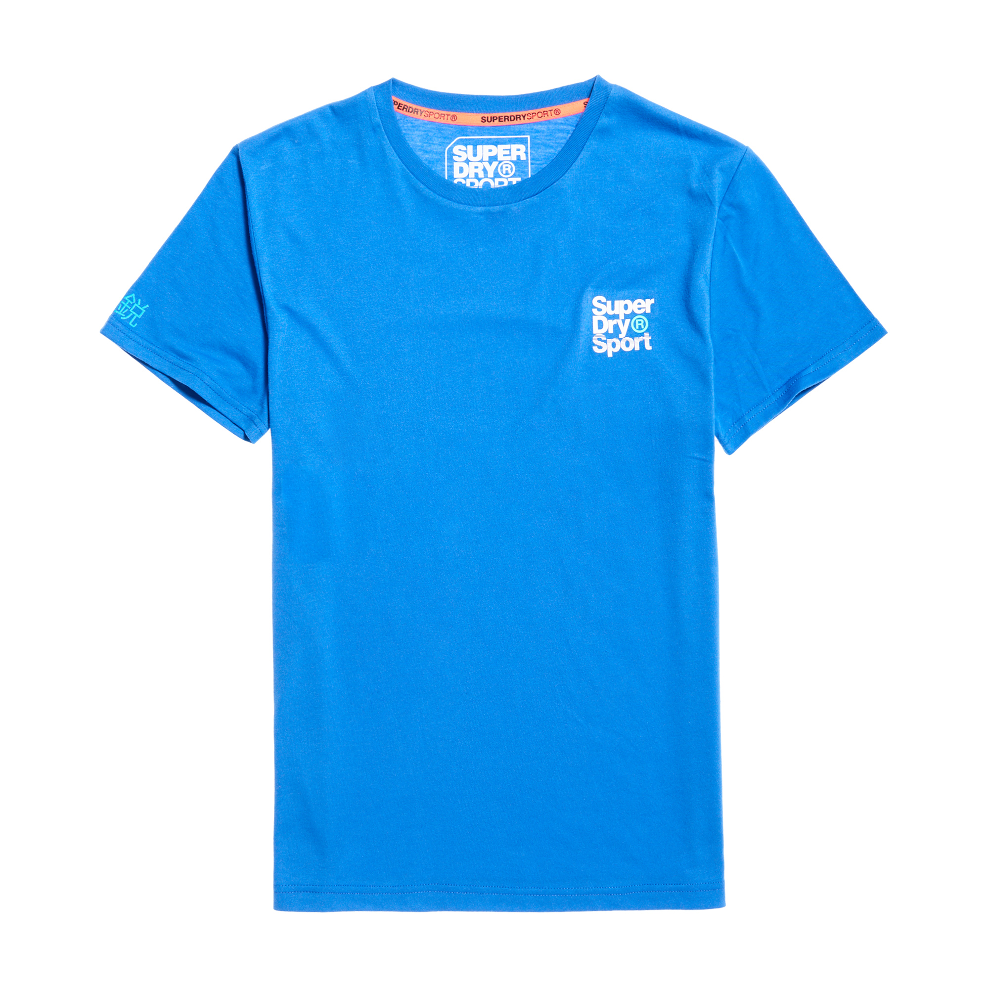 Core Sport Small Logo Tee, 70's Blue