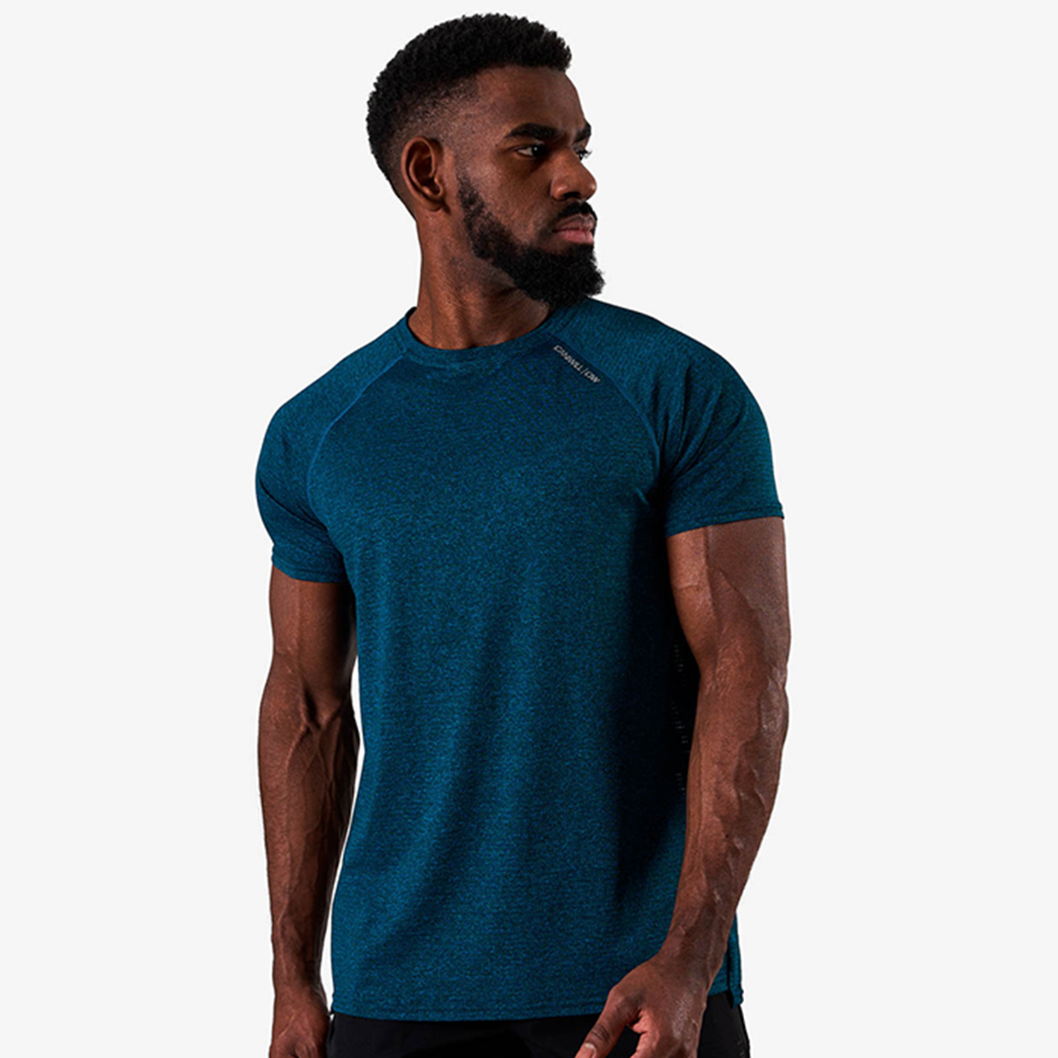Training Mesh T-shirt v2, Dark Teal Melange