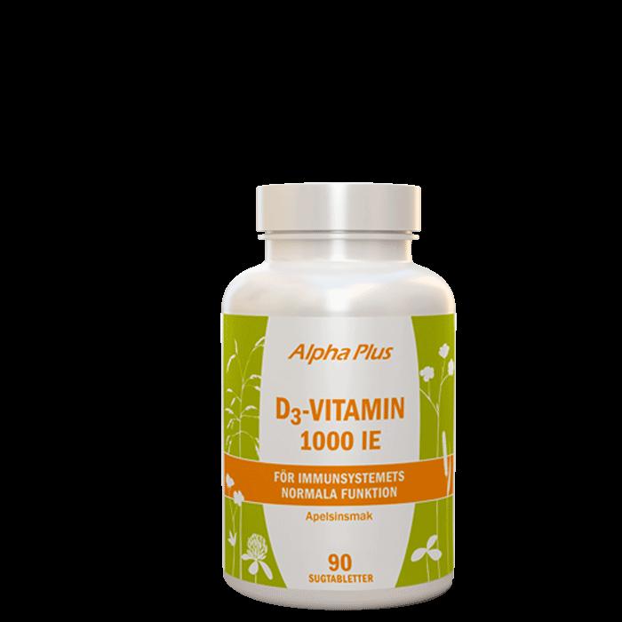 D3-vitamin 1000 IE, 90 tuggtabletter