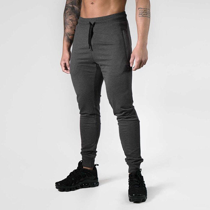 Tapered Joggers V2, Dark Grey Melange