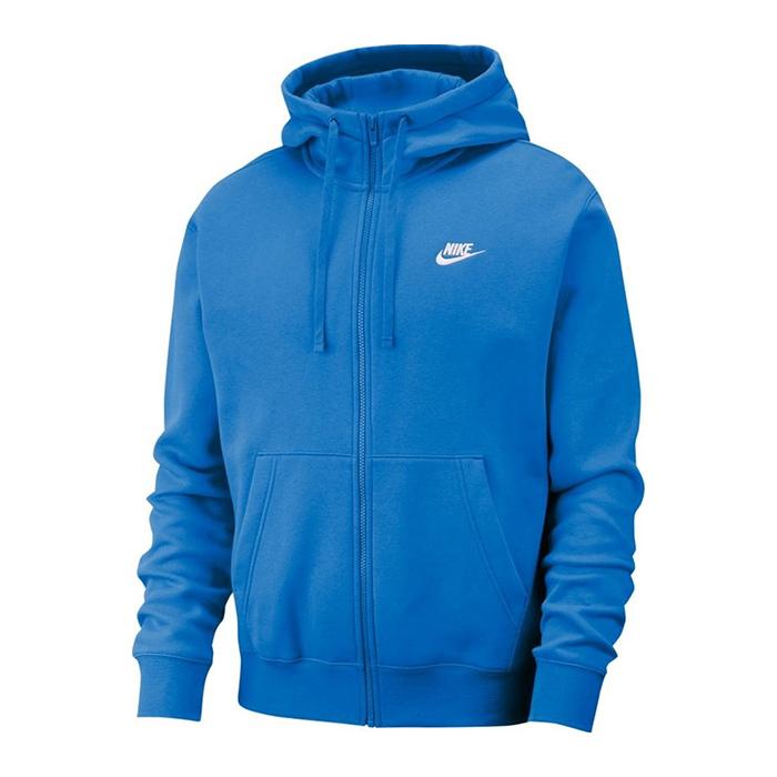 Nike Club Hoodie Full Zip, Pacific Blue