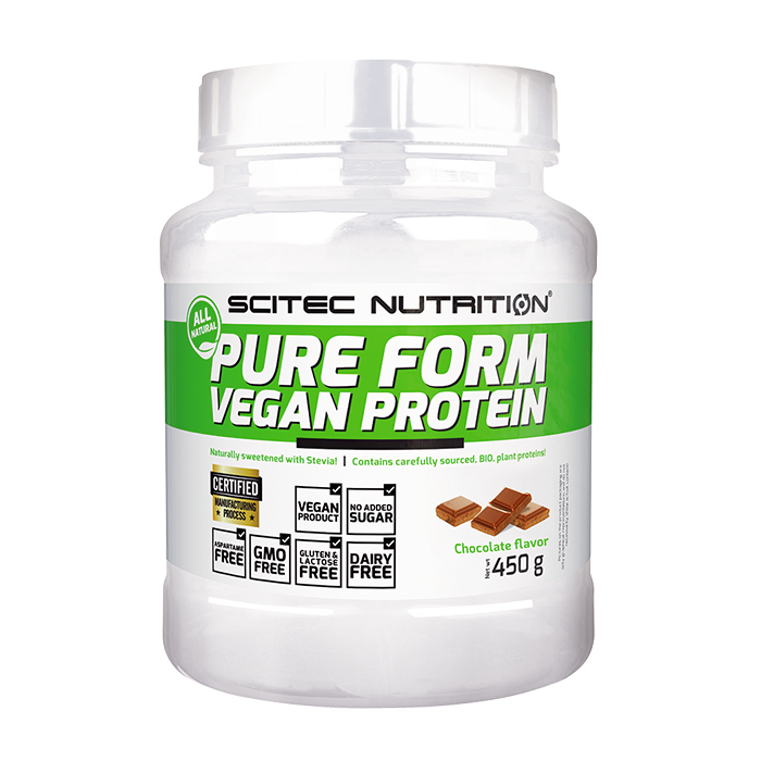 Pure Form Vegan Protein, 450 g Chocolate