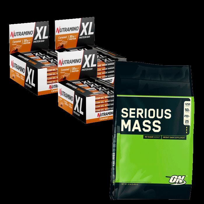 Nutramino XL Protein bars + Optimum Serious Mass 5455 g for free