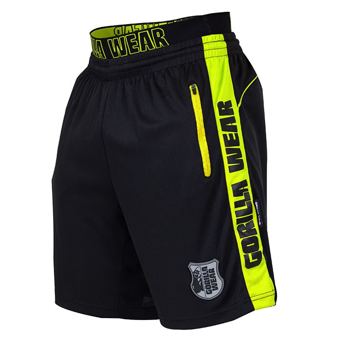 Shelby Shorts, Black/Neon Lime