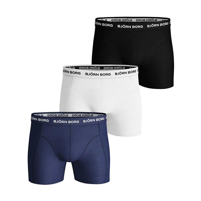 3-Pack Noos Solids Shorts, Blue Depths