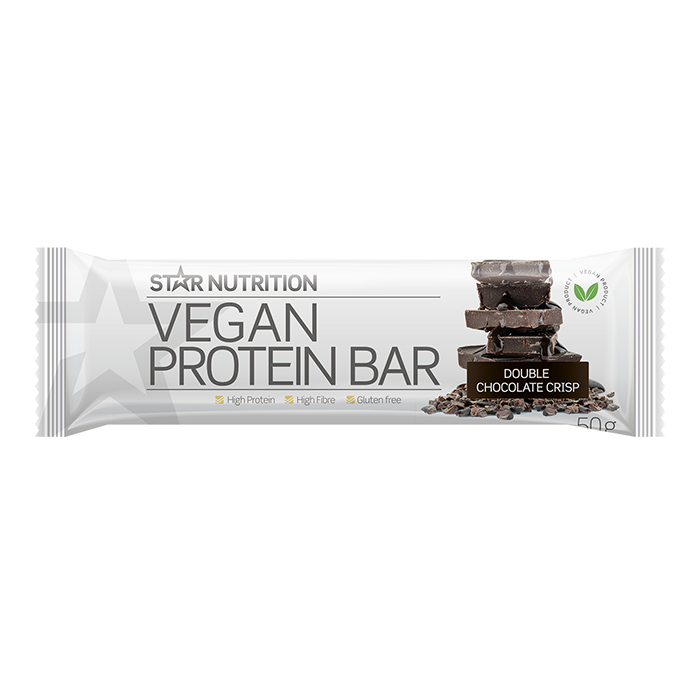 Vegan Protein bar, 50 g Double chocolate crisp