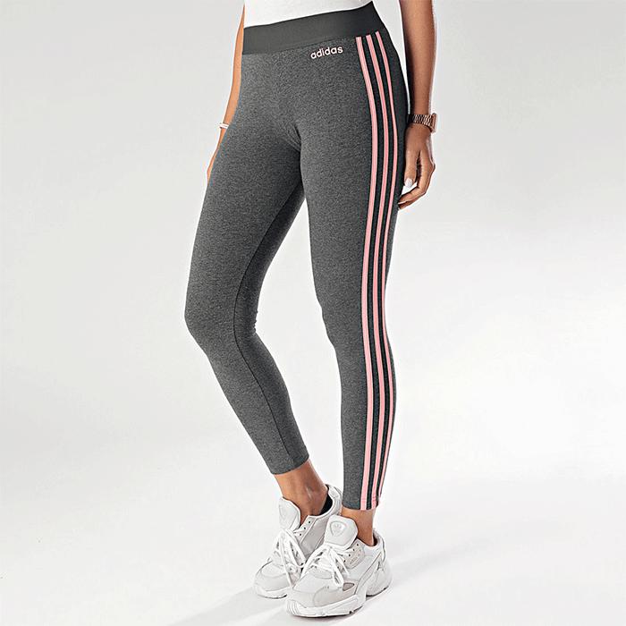 Adidas Essential 3S Tights, Grey/Pink