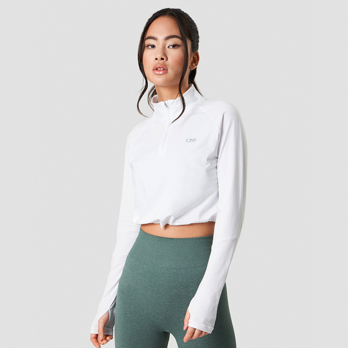 Define Cropped 1/4 Zip Adjustable, White