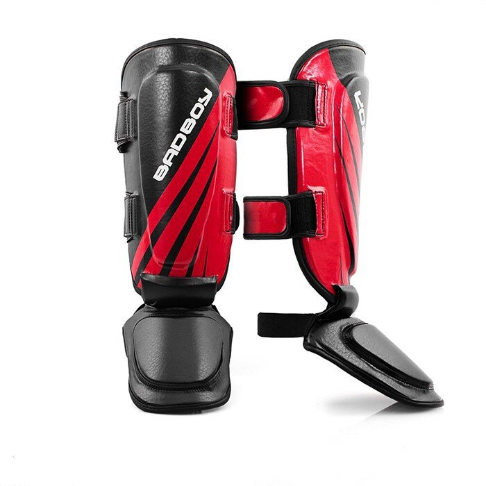 BAD BOY Training Series Impact Thai Shin Guards, Black/Red