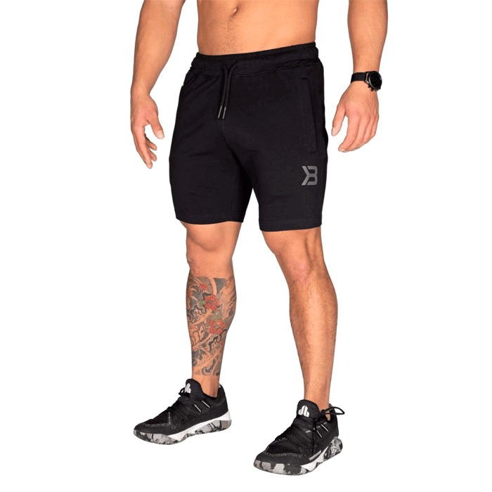 Tapered Sweatshorts, Black