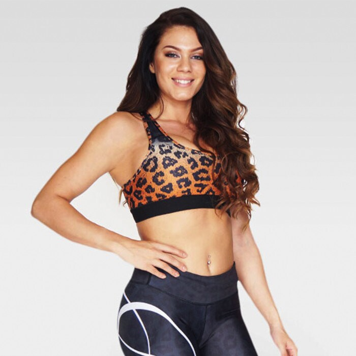 Ocelot Sportsbra, Gray/Orange