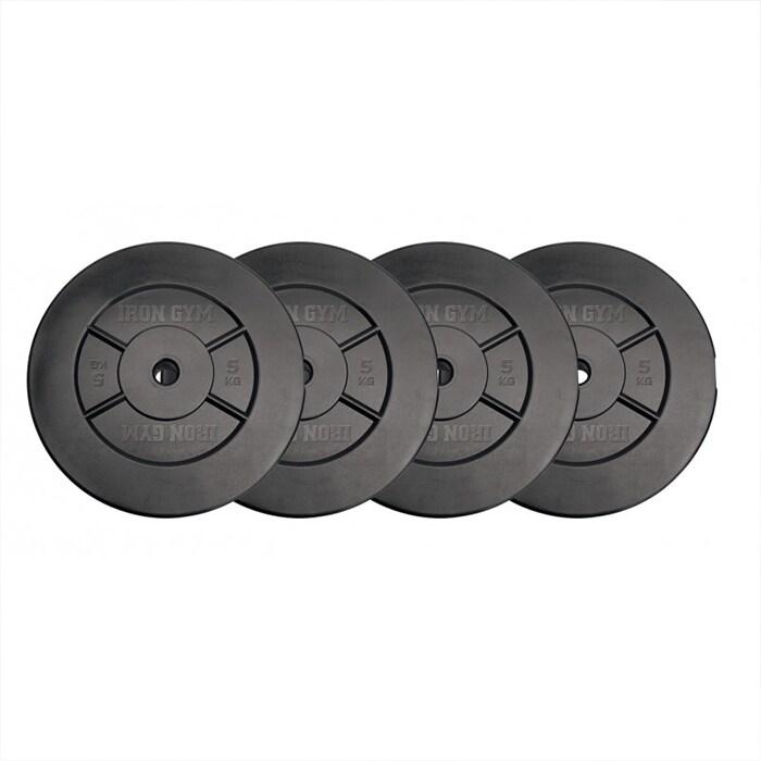 Iron Gym 20kg Plate Set, 5kg x 4 (Add ons)