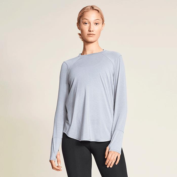 Clara Loose Long Sleeve, Grey Melange